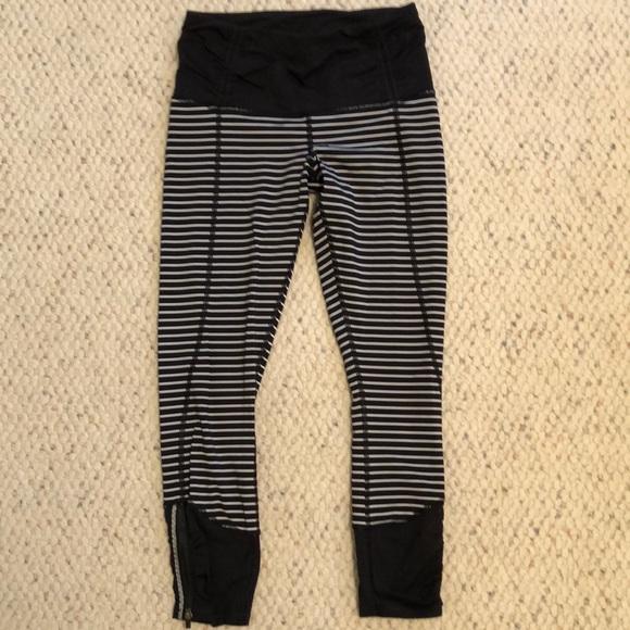 f559118dd63b9 lululemon athletica Pants | Lulu Lemon Striped Cropped Leggings ...